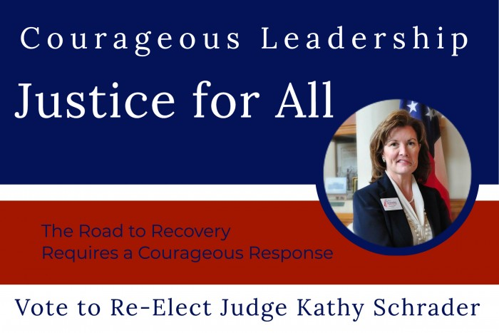 Justice for All by Judge Kathy Schrader-The Overcomer with Rena Olson
